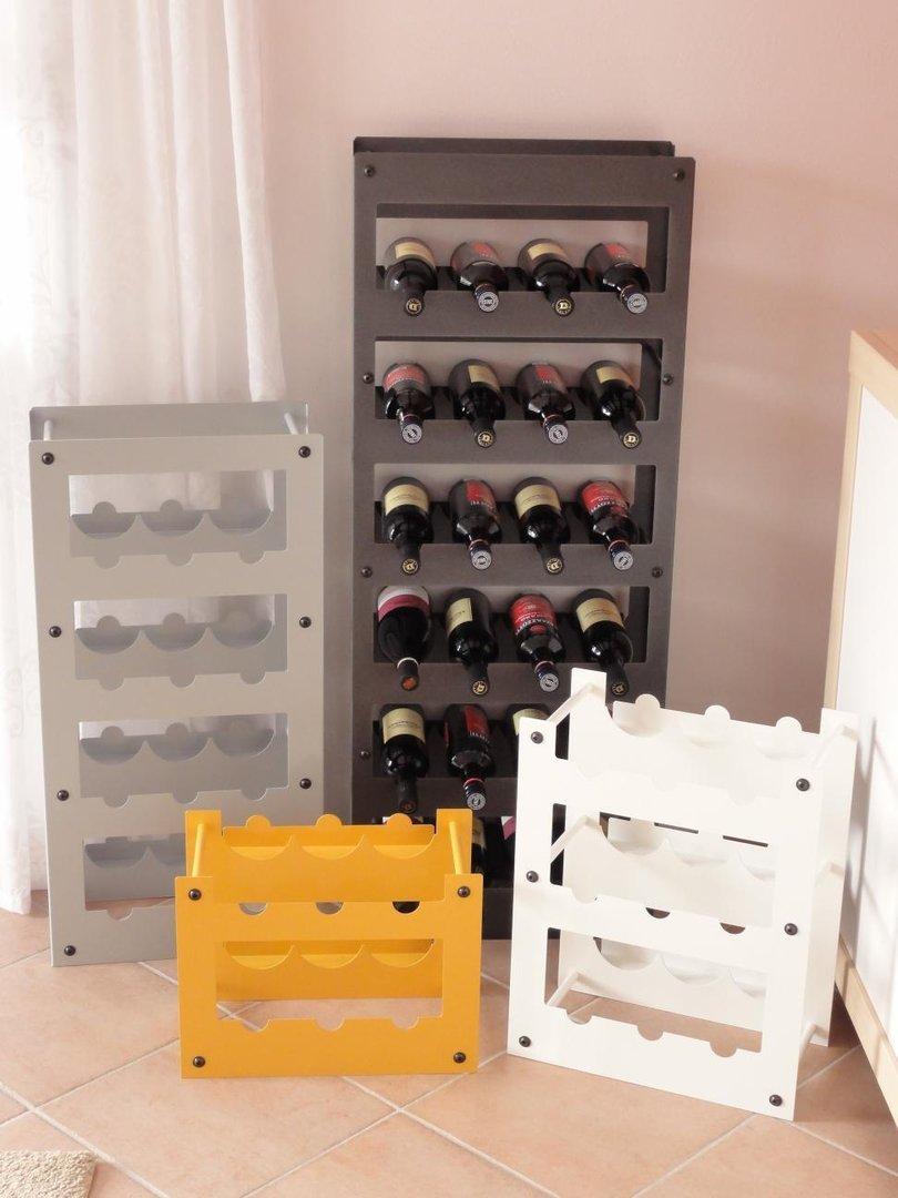 weinregal metall f r 12 flaschen regale f r jeden bedarf. Black Bedroom Furniture Sets. Home Design Ideas