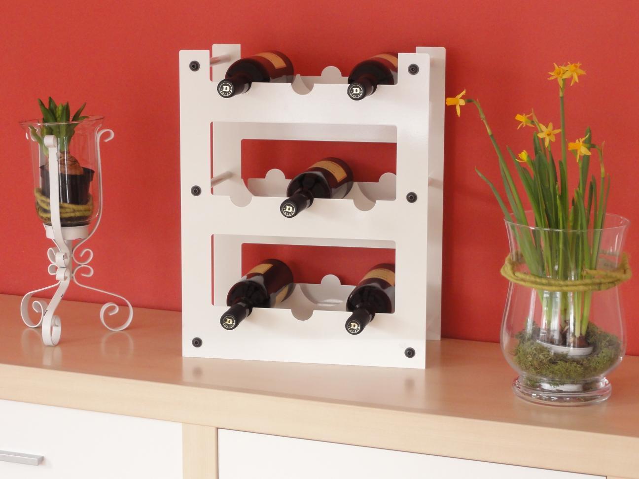 weinregal metall f r 9 flaschen regale f r jeden bedarf. Black Bedroom Furniture Sets. Home Design Ideas