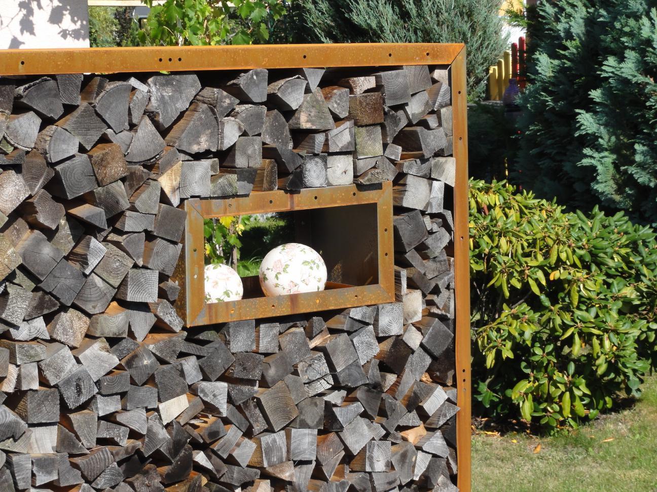 fenster kaminholzregal aus metall ohne r ckwand 0 6 x 0 3m. Black Bedroom Furniture Sets. Home Design Ideas
