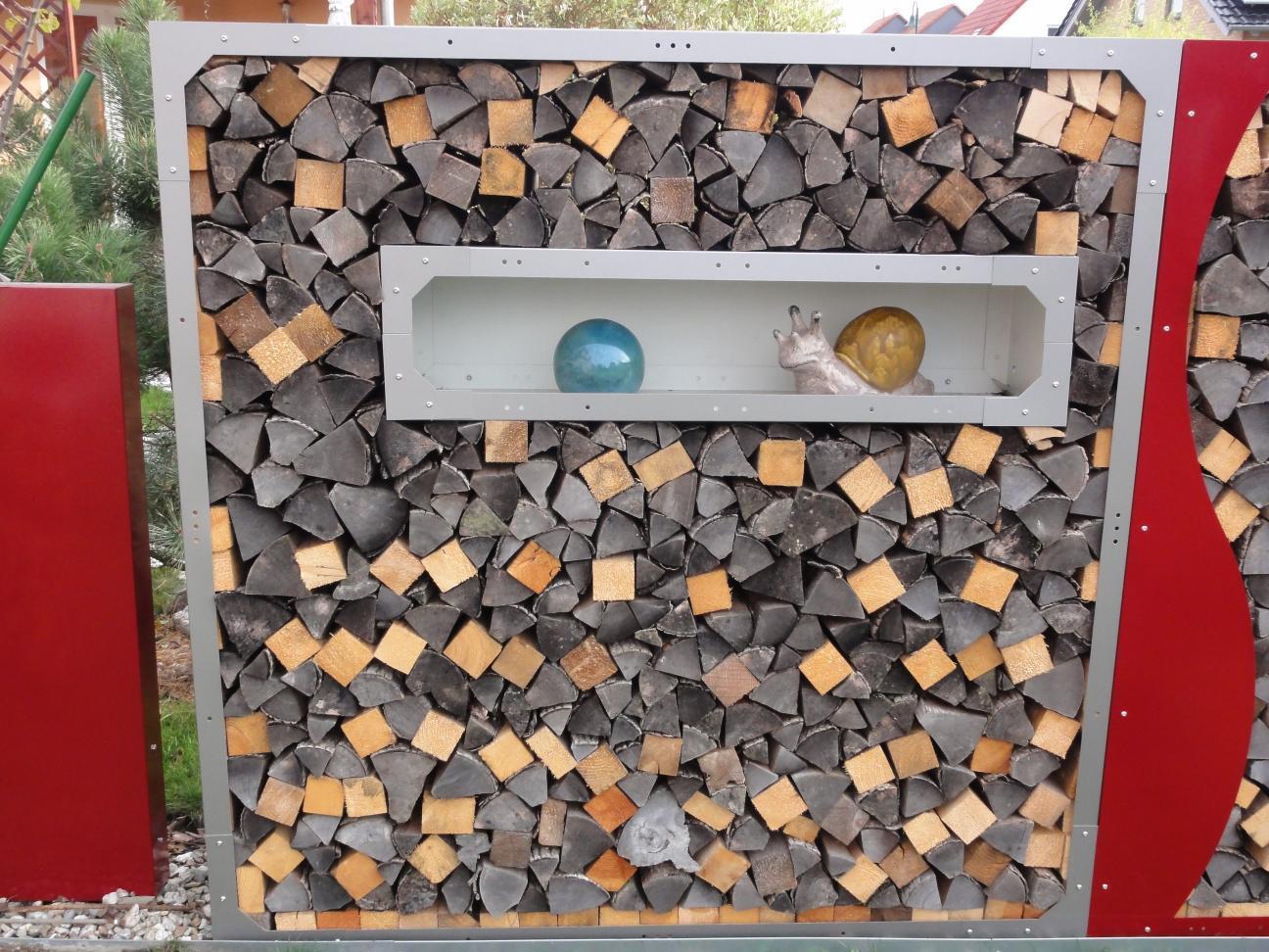 Fenster Kaminholzregal Aus Metall Mit Ruckwand 1 2 X 0 3m