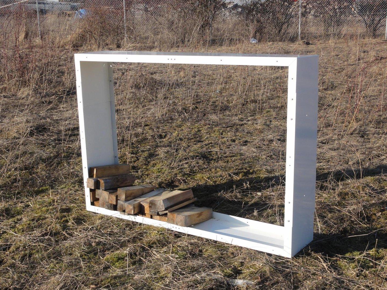 kaminholzregal metall 1 9 m x 1 0 m farbe nach farbkarte. Black Bedroom Furniture Sets. Home Design Ideas