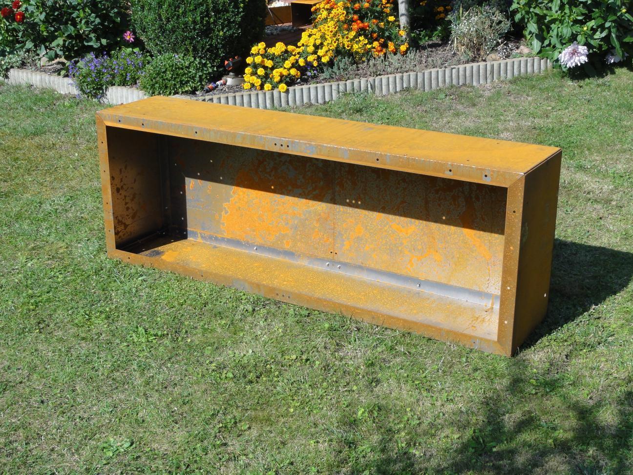 r ckwand f r kaminholzregal 1 7m x 1 2m corten edelrost. Black Bedroom Furniture Sets. Home Design Ideas