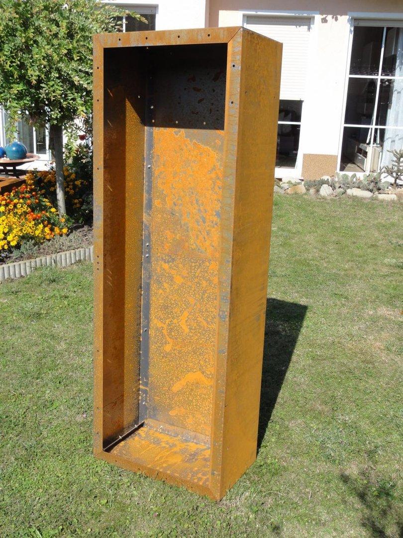 Rückwand Für Kaminholzregal 17m X 06m Corten Edelrost