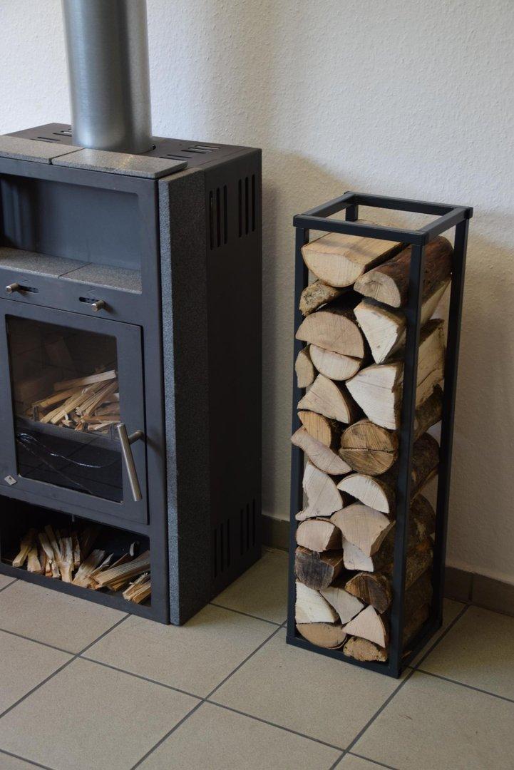 kaminholzregal innen stab plan 1500x250 aus metall. Black Bedroom Furniture Sets. Home Design Ideas