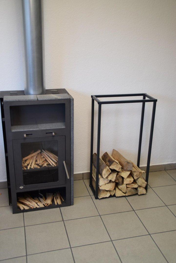 kaminholzregal innen stab plan 1500x500 aus metall. Black Bedroom Furniture Sets. Home Design Ideas