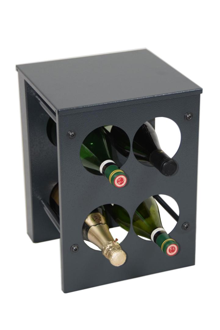 weinregal flaschenregal vino aus metall h he 37 cm 4 8 flaschen. Black Bedroom Furniture Sets. Home Design Ideas