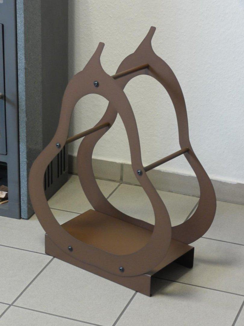 kaminholzregal innen birne aus metall. Black Bedroom Furniture Sets. Home Design Ideas