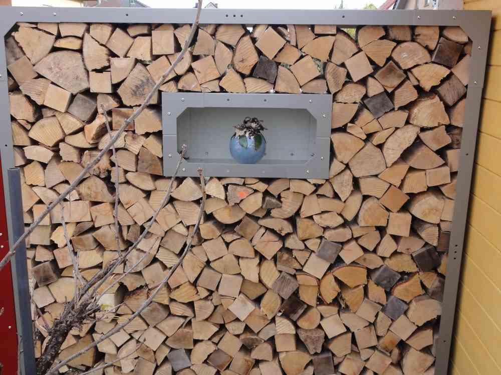 Fenster Kaminholzregal Aus Metall Mit Ruckwand 0 6 X 0 3m