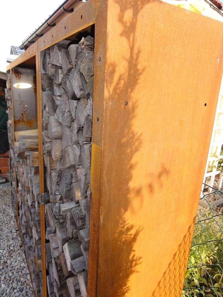Kaminholzregal Metall 19 M X 17 M Corten Edelrost