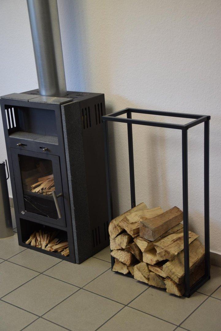 kaminholzregal innen stab plan 900x500 aus metall. Black Bedroom Furniture Sets. Home Design Ideas